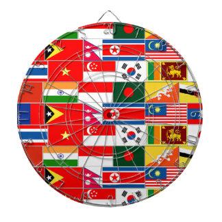 アジア旗 ダーツボード