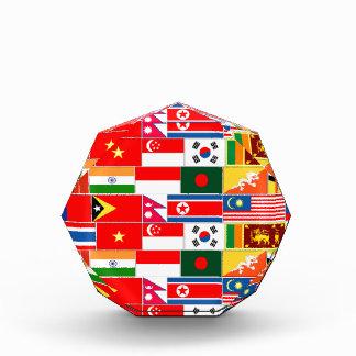 アジア旗 表彰盾