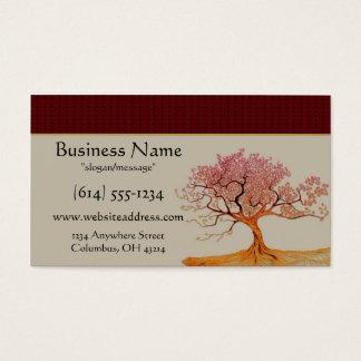 アジア桜の木の名刺 名刺