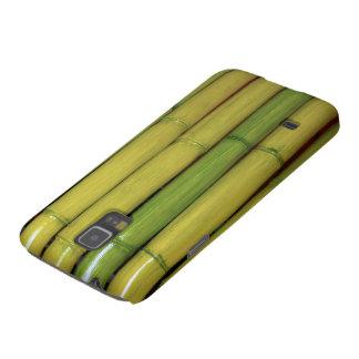 アジア禅の緑のタケは植物の写真につきまといます GALAXY S5 ケース