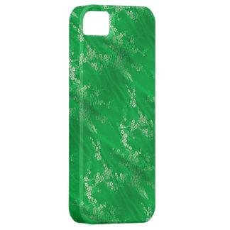 アジア緑の絹のiPhone 5の箱 iPhone SE/5/5s ケース