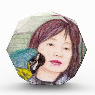 アジア美しいの女性女性の女の子 表彰盾