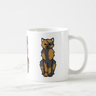 アジア自己及びTortie猫の漫画 コーヒーマグカップ