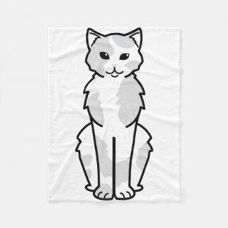 アジア自己及びTortie猫の漫画 フリースブランケット