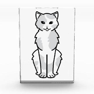 アジア自己及びTortie猫の漫画 表彰盾