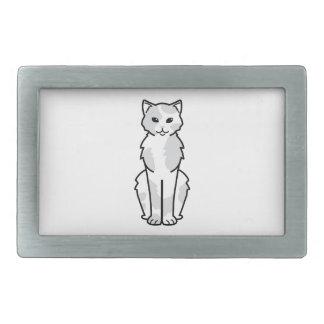 アジア自己及びTortie猫の漫画 長方形ベルトバックル