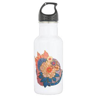 アジア花のコラージュの芸術 ウォーターボトル
