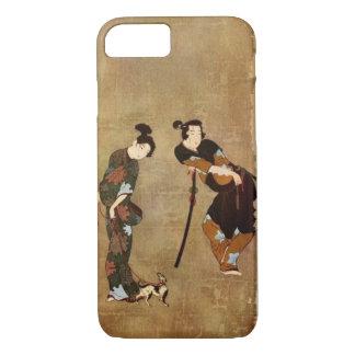 アジア芸術-小さいDog 1913年が付いているカップル iPhone 8/7ケース