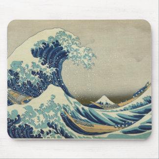 アジア芸術-神奈川を離れた素晴らしい波 マウスパッド