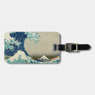 アジア芸術-神奈川を離れた素晴らしい波 ラゲッジタグ