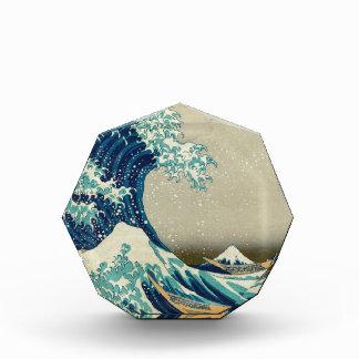 アジア芸術-神奈川を離れた素晴らしい波 表彰盾