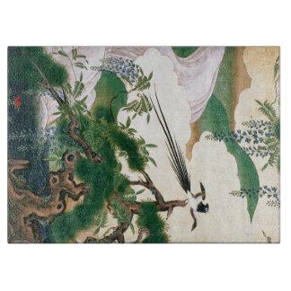 アジア藤の花の滝の鳥のまな板 カッティングボード