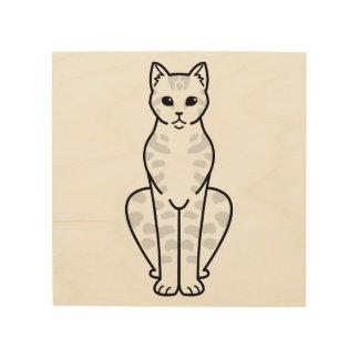 アジア虎猫猫の漫画 ウッドウォールアート