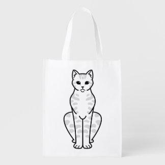 アジア虎猫猫の漫画 エコバッグ