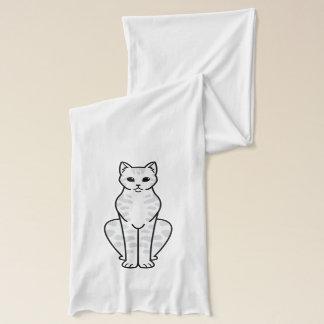アジア虎猫猫の漫画 スカーフ