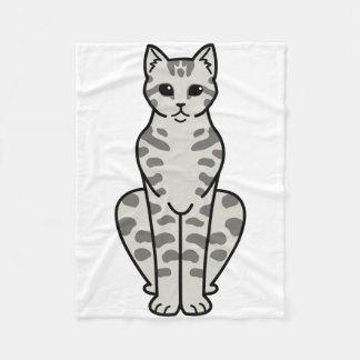 アジア虎猫猫の漫画 フリースブランケット