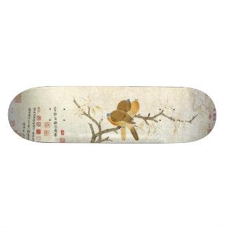 アジア鳥のタケ動物の花のスケートボード スケートボード