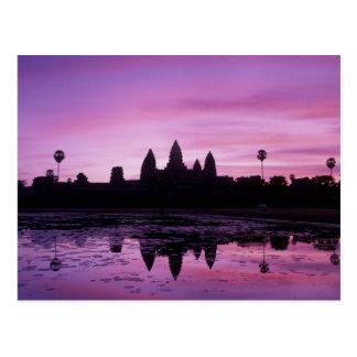アジア、カンボジア、シェムリアップ、アンコール・ワット(b.第12 2 ポストカード