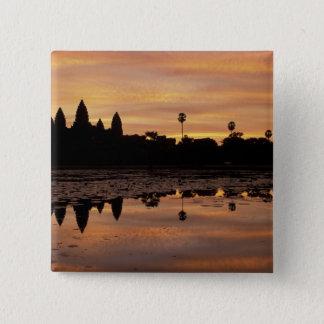 アジア、カンボジア、シェムリアップ、アンコール・ワット(b.第12 5.1cm 正方形バッジ