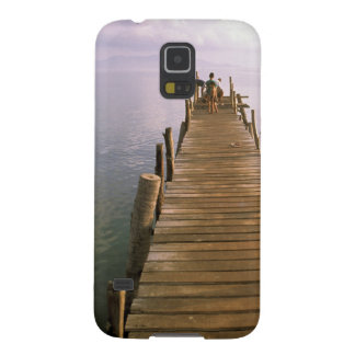 アジア、タイのKo Samuiの島。 ドック Galaxy S5 ケース