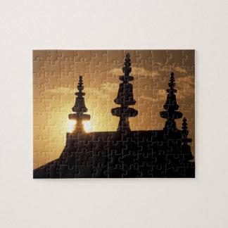 アジア、ネパール、カトマンズ。 Bouddhanath Stupa. ジグソーパズル