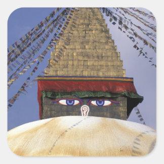 アジア、ネパール、カトマンズ。 Bouddhanath Stupa。 2 スクエアシール
