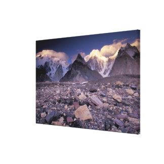 アジア、パキスタン、Karakoramの範囲、広い キャンバスプリント