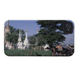 アジア、ミャンマーのInle湖。 浮遊市場 Case-Mate iPhone 4 ケース