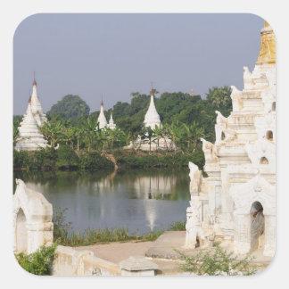 アジア、ミャンマー(ビルマ)、マンダレイ。 仏教徒 スクエアシール