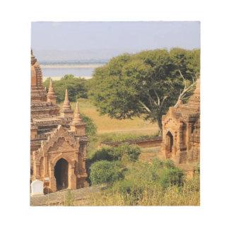 アジア、ミャンマー(ビルマ)、Bagan (異教徒)。 さまざまな2 ノートパッド