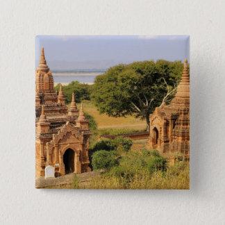 アジア、ミャンマー(ビルマ)、Bagan (異教徒)。 さまざまな2 5.1cm 正方形バッジ