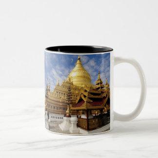 アジア、ミャンマー(ビルマ)、Bagan (異教徒)。 Shwe 2 ツートーンマグカップ