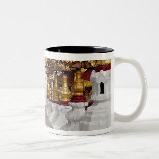アジア、ミャンマー(ビルマ)、Bagan (異教徒)。 Shwe 5 ツートーンマグカップ