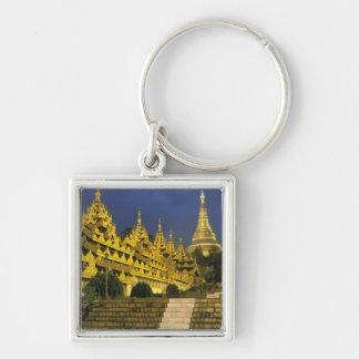 アジア、ミャンマー、ヤンゴン。 Shwedagonの塔の キーホルダー
