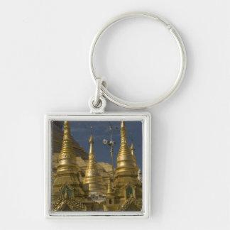アジア、ミャンマー、ヤンゴン。 Shwedagonの金stupa キーホルダー