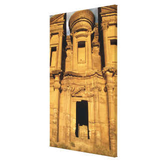 アジア、ヨルダン、Petra。 El Deirの修道院 キャンバスプリント