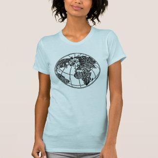 アジア-ヨーロッパ世界の地球アフリカの写真 Tシャツ