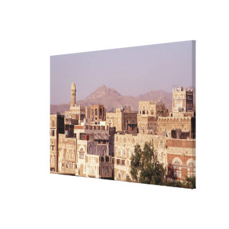 アジア、中東のイエメン、Sana'a.の共和国 キャンバスプリント