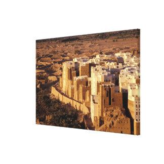 アジア、中東のイエメン、Shibamの共和国 キャンバスプリント