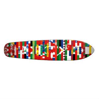アジア 旗 スケートボード