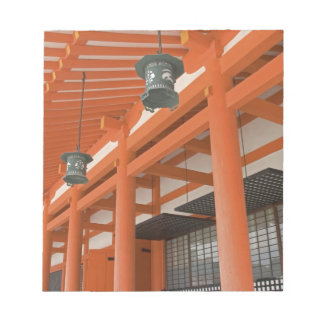 アジア、日本、京都のHeianの神社 ノートパッド