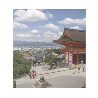アジア、日本、京都のKiyomizuの寺院 ノートパッド