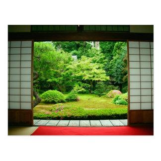 アジア、日本、京都。 禅の庭2 ポストカード
