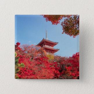 アジア、日本、京都。 秋色 缶バッジ