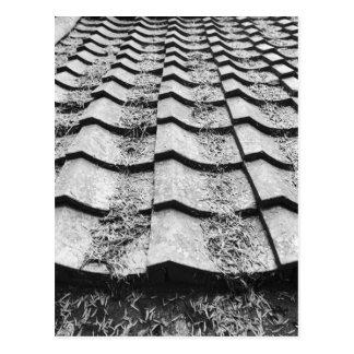 アジア、日本、宮島。 粘土の屋根の詳細 ポストカード