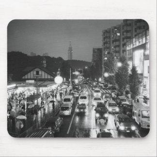 アジア、日本、東京。 夕べ、Harajukuの場所、 マウスパッド