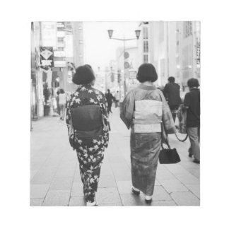 アジア、日本、東京。 Ginza.の芸者 ノートパッド