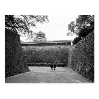 アジア、日本、熊本。 主要な通路および堀、 ポストカード