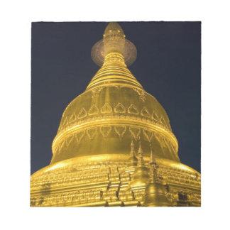 アジア、Mayanmar、ヤンゴンの仏教寺院 ノートパッド