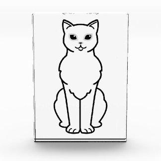 アジアBurmilla猫の漫画 表彰盾